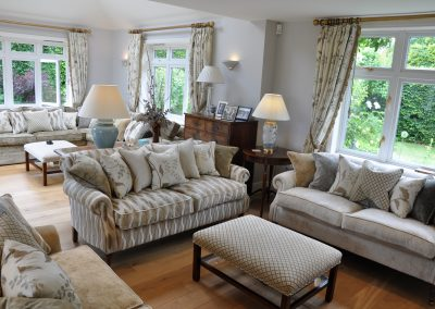 Orchard & Flower Blossom Fabrics For An Oxfordshire Rectory Country Family Home