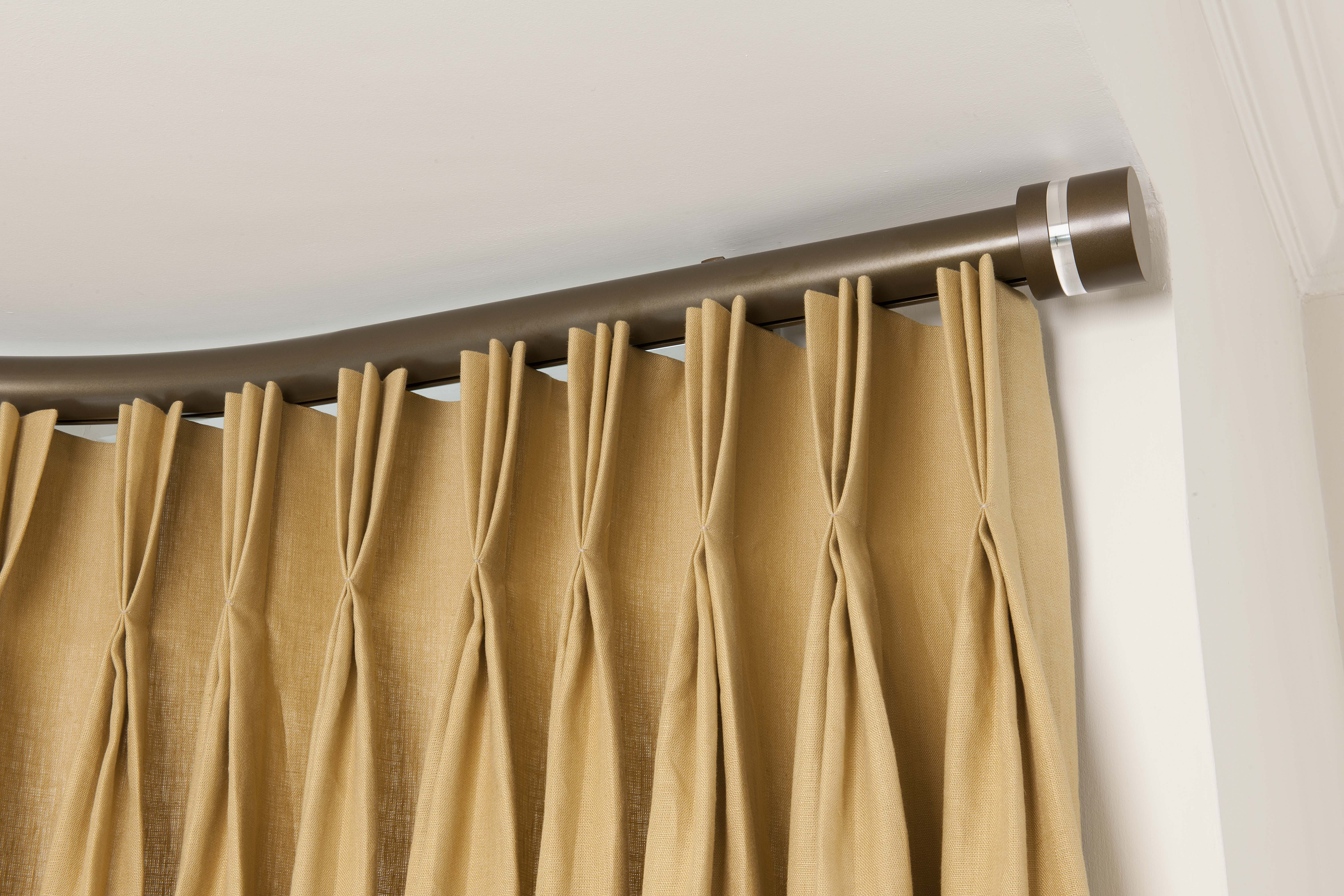 silent gliss electric recessed metrople track with triple pleate curtains